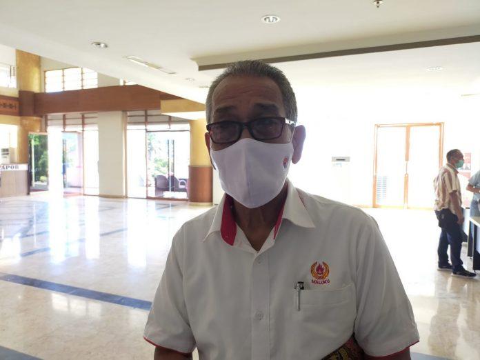 Ketua harian PON Maluku Agus Lombo, foto: Chintia Samangun