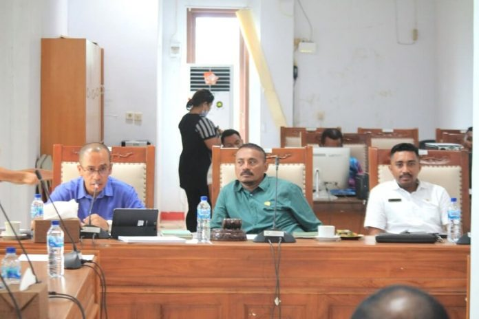 Komisi II DPRD Maluku Tenggara menggelar Rapat Dengar Pendapat (RDP) dengan PT. PLN Cabang Tual di ruang rapat Komisi II DPRD Malra, Jumat (20/11/2020). Foto: Tim IT DPRD Malra
