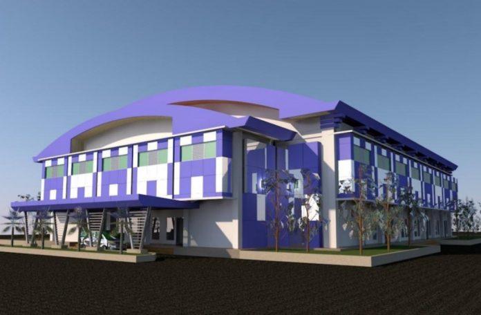 Desain Gedung Pengembangan Industri dan Bisnis Perikanan Politeknik Perikanan Negeri Tual (Polikant).