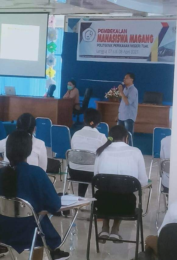 Politeknik Perikanan Negeri Tual (Polikant) melaksanakan Pembekalan Magang Untuk 68 Mahasiswa Tahun Akademik 2020/2021 Di Balrom Lantai Tiga Polikant,