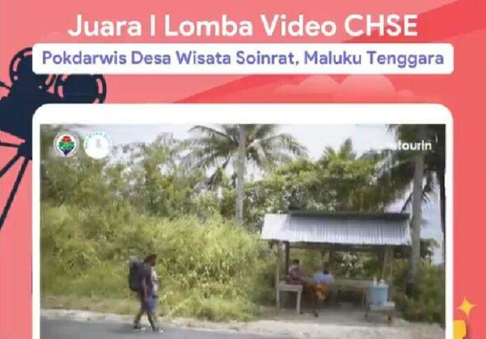 Pokdarwis Desa Wisata Soinrat jadi pemenang pertama lomba video CHSE. Foto: Dok. Instagram @atourin.official.