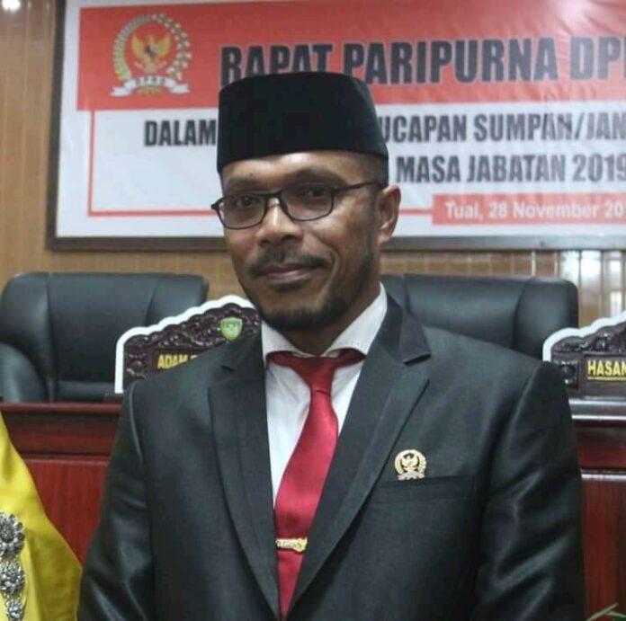Ketua DPRD Kota Tual, Hasan Syarifuddin Borut