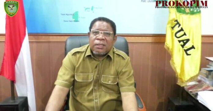 Wali Kota Tual Adam Rahayaan memberikan apresiasi atas kinerja Kantor Pelayanan Perbendaharaan Negara (KPPN) Tual, melalui siaran Forkopimda, Senin (2/8/2021).