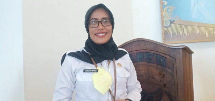 Kepala Dinas Perindustrian dan Perdagangan Kota Tual Darnawati Amir